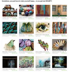 Sometimes, you just have to make YOURSELF happy... or you get real GRUMPY! by Frances http://etsy.me/1LA6NJw  #etsyspecialT