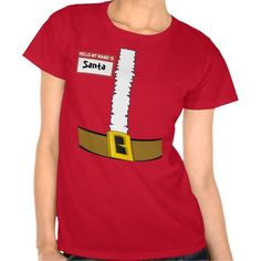 Santa Suit Name Tag Top. Customize Me! :) http://www.zazzle.com/name_tag_santa_suit_belly_top_customize_me_tshirt-235781479885681599
