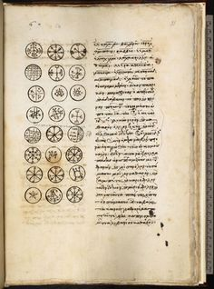 British Library, Harleian MS. 5596 | One of a number of Greek manuscripts of a text referred to as The Magical Treatise of Solomon. Its contents are very similar to the Clavicula, and it may be the prototype of the entire genre (15th c.)