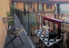 Manuela in Italy Balcony, The Neighbourhood, Italy, Patio, Steel, Wood, Outdoor Decor, Home Decor, The Neighborhood