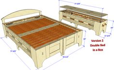 Version 2 Double Bed N Box Enter FWWREADERS at checkout to recieve an additional 20% off