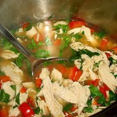 Chicken and Basil Stir Fry Soup ~ FP {Trim Healthy Mama, GAPS, SCD, Paleo, Grain Free, Sugar Free, Dairy Free}