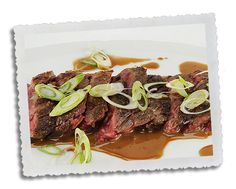 Bourbon Marinated Hanger Steak - works well with flank steak which is ...
