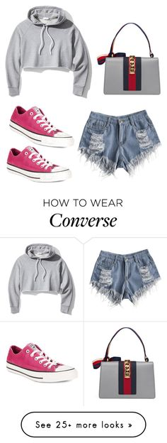 """casual"" by susannahbananah on Polyvore featuring Frame, Gucci and Converse"