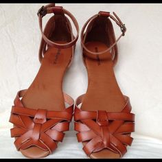 Cognac Flat Sandals size 7.5 Brand new condition cognac flat sandals size 7.5 by Mossimo supply co. Mossimo Supply Co. Shoes Flats & Loafers