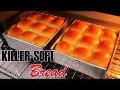 YouTube Soft Bread Recipe, Roti Recipe, Bread Recipes, Cake Recipes, Cooking Recipes, Burger Bread, Bread Bun, Indonesian Food, Dinner Rolls