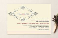 French Vintage Wedding Invitations by annie clark at minted.com