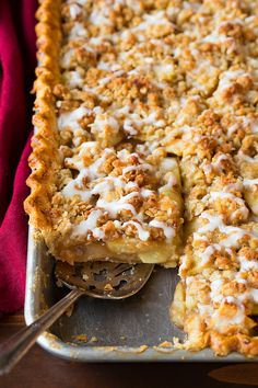 Crumb-Topped Apple Slab Pie - Cooking Classy