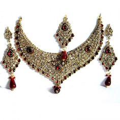 Red Drop Gorgeous Necklace Set
