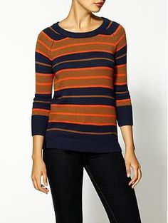 Is it just me or is this a classy Bears shirt?  Sport your team colors at work!  Hive & Honey Fun Stripe Sweater | Piperlime $30