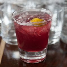 Whiskey Seduction: rye, red wine, black currant liqueur, lemon juice, lemon twist | Saveur