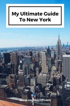 ultimate guide to new york
