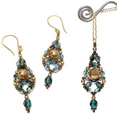 Dewdrop Earrings and Pendant by Deb Roberti, AroundTheBeadingTable.com