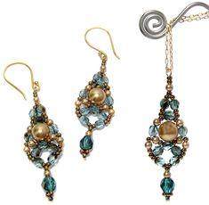 Dewdrop Earrings and Pendant by Deb Roberti, AroundTheBeadingTable.com