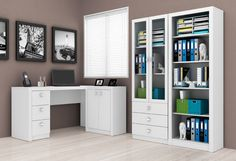 Conjunto Home Office 03 Peças Branco Tecno Mobili - Koerich