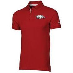 Nike Arkansas Razorbacks Pique Polo - Cardinal