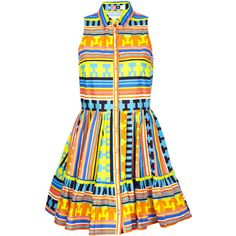 MSGM Neon Print Shirt Dress ($178) ❤ liked on Polyvore featuring dresses, vestidos, short dresses, vestiti, graphic print dress, ruffle collar dress, mini dress, ruffle dress and flutter-sleeve dress