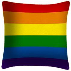 GAY RAINBOW FLAG - FUNKY ART PRINT CUSHION £34.99