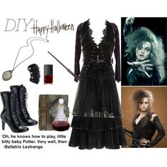 """DIY Halloween - Bellatrix Lestrange"" by dazzlious on Polyvore"