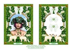 Ostara The Spring Equinox A5 Card Topper on Craftsuprint designed by Elaine Sheldrake - Ostara. The Spring Equinox, first day of Spring, a time to celebrate. An A5 card topper that can be used as a quick card front or with decoupage. - Now available for download!