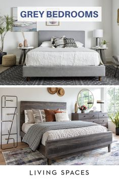 Grey is the perfect neutral to make any bedroom the ultimate relaxing retreat. Bedroom Retreat, Room Ideas Bedroom, Home Decor Bedroom, Design Bedroom, Bedroom Wall, Grey Bedroom Furniture, Decoration Bedroom, Wall Decor, Decoration Inspiration