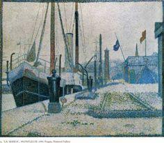 The Maria, Honfleur, 1886, Georges Seurat