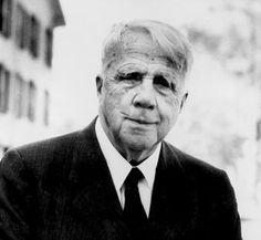 The great American poet Robert Frost