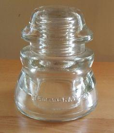 Insulator Hemingray 45 Insulator Glass Clear Electric Telephone USA
