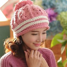 Girl's Hats Bomhcs Cute Babys Cat Beanie 100% Handmade Knitted Kids Ears Hat For Kids Ages 3-8 Fast Color