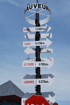 St Sauveur, Quebec Signpost