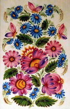 Оригинал схемы вышивки «Петриковская роспись»