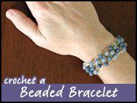 Crochet Beaded Bracelet. ☀CQ #crochet #crafts #DIY. Thanks so much for sharing! ¯\_(ツ)_/¯