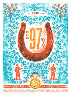#GigPosters / Old 97's Tour Poster / Lure Design #Poster $30
