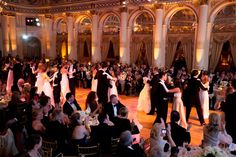 debutantes and escorts dance at 70th anniversary of the bal des berceaux