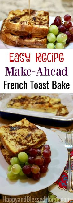 Easy Recipe Make-Ahe