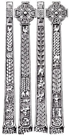 Illustrations of the Gosforth Cross designs