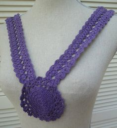 Purple Cotton Neckline Floral Applique Bodice by FabricBistro