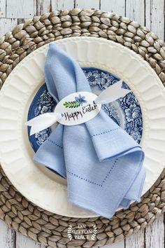 happy easter printable napkin ring