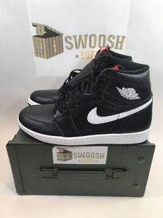 925e53ce8658e4 Air Jordan 1 Retro High OG Ying Yang Black White 575441 011 Youth Size 7Y