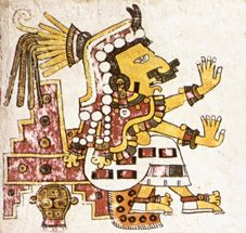 Chantico, aztec fire and hearth goddess