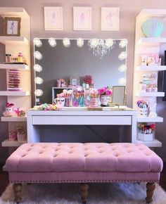Makeup Room Ideas room DIY (Makeup room decor) Makeup Storage Ideas For Small Space - Tags: makeup room ideas, makeup room decor, makeup room furniture, makeup room design Cute Bedroom Ideas, Awesome Bedrooms, Home Decor Bedroom, Bedroom Furniture, Bedroom Chair, Furniture Storage, Bedroom Colors, Antique Furniture, Modern Furniture