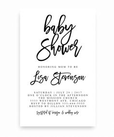 Rain cloud baby shower party invitation template pinterest party black and white baby shower invitation typography stopboris Image collections