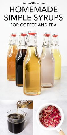 Homemade Syrup, Homemade Tea, How To Make Homemade, How To Make Syrup, Make Simple Syrup, Tea Recipes, Coffee Recipes, Syrup Recipes, Coffee Syrups