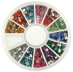 1 Sets Goodlooking Popular 3D Acrylic Nail Art Wheel Colorful Decor Manicure Primer Salon Supplies Color Style Glitter Flower -- Click image for more details. This Amazon pins is an affiliate link to Amazon.