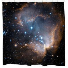 Infant Stars Shower Curtain