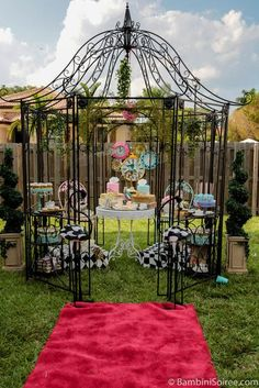 Incredible Alice in Wonderland Birthday Party!  See more party ideas at CatchMyParty.com!