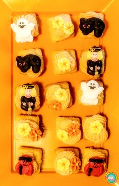 Bizcochitos con buttercream de naranja