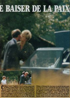 June Princess Diana exchanges a friendly kiss with Prince Charles at Princes William and Harry's School Sports Day, at Ludgrove School. Prince Charles, Princess Diana And Charles, Princess Diana Family, Prince And Princess, Princess Of Wales, Lady Diana Spencer, William Harry, English Royal Family, Newspaper Cover