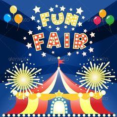 Fun Fair Poster  #GraphicRiver         Fun fair at night poster template vector illustration. Editable EPS and Render in JPG format     Created: 12November13 GraphicsFilesIncluded: JPGImage #VectorEPS Layered: No MinimumAdobeCSVersion: CS Tags: amusement #arena #balloon #banner #border #cabaret #carnival #cheerful #circus #cirque #color #emblem #entertainment #entrance #fair #festival #flag #fun #funfair #happy #hot #kids #leisure #ornate #park #premiere #ribbon #stars #stripe #tent