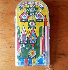 Vintage Pocket Pin Ball Game by Marx toys by Sweetpearlvintage